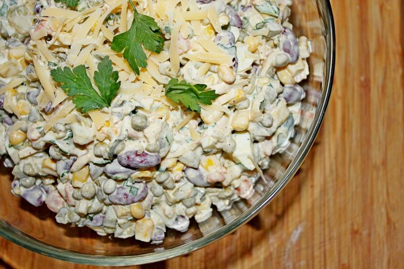 serowa sałatka z  pietruszką