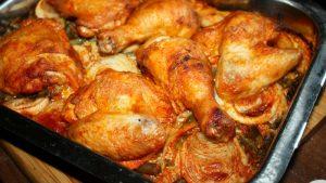Pieczony kurczak na ryżu