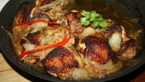 Smażony,pieczony,kurczak z chilli